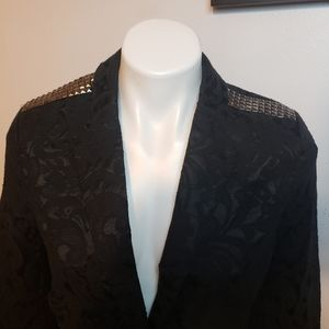 NWT Miss Me Lace Floral Black Jacket M